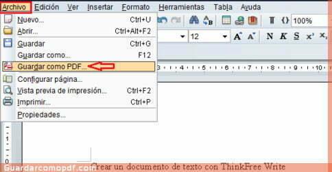 Como guardar documentos en pdf