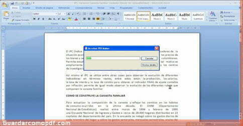 Como guardar un documento en pdf