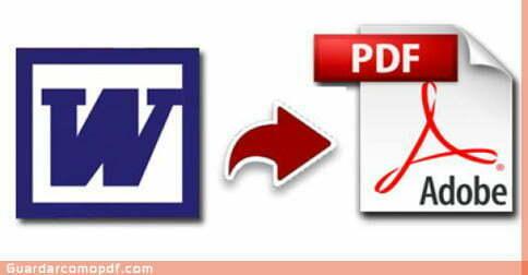 Pasar un archivo de Word a PDF - Guardar Como PDF