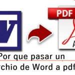 Pasar un archivo de Word a PDF
