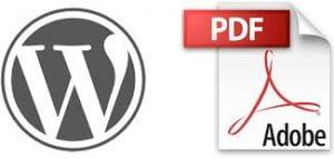 Como subir pdf a wordpress