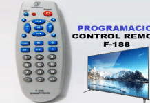 programar control remoto f-188