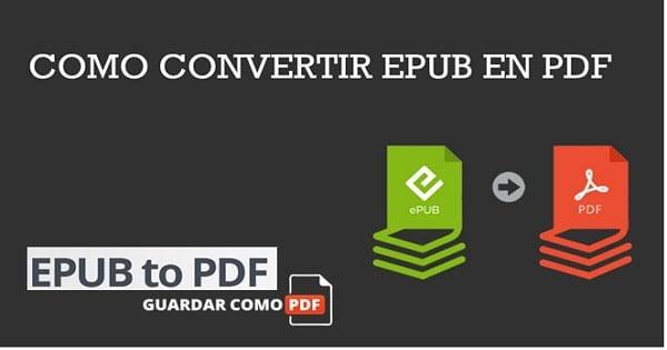 Programa para convertir EPUB a PDF