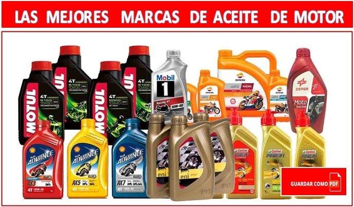 Las mejores marcas de aceite para vehículos