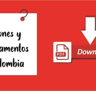 regiones y departamentos de Colombia en PDF